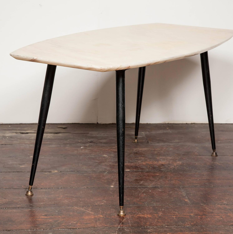 1950's italian marble top coffee table - vittorio ragone