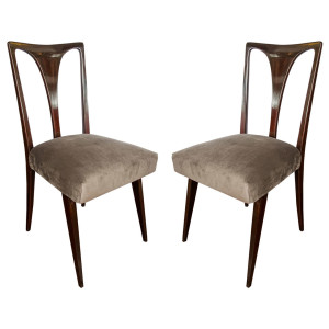 1950 set of six Italian dining chairs