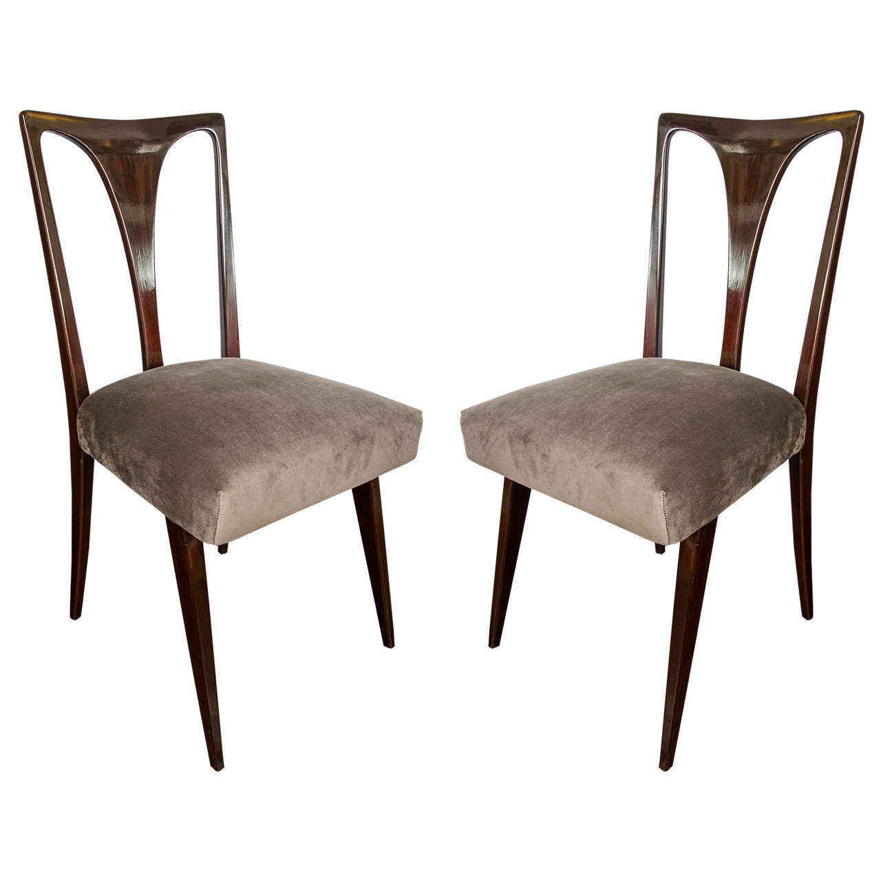 1950 set of six italian dining chairs vittorio ragone for Furniture 1950